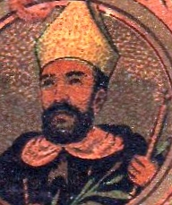 detail from a prayer card commemorating the beatification of the Martyrs of Tonkin; artist unknown, 1906; photographed on 18 June 2008 by Alex Maynardo Castro; swiped from Wikimedia Commons; click for source image