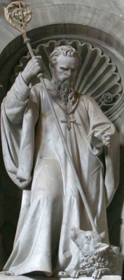 statue of Saint William of Vercelli by Giuseppe Prinzi, 1878, Saint Peter's Basilica, Rome, Italy