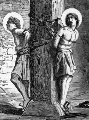 Saints Marcus and Marcellianus, Martyrs, from Pictorial Lives of the Saints