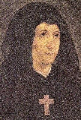 detail of an Italian holy card of Venerable Teodora Campostrini