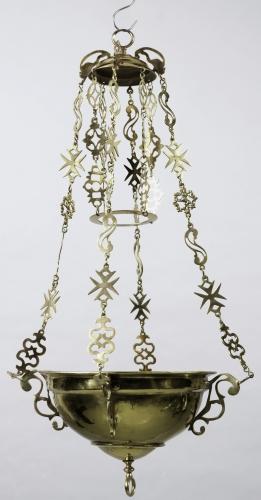 18th century brass Italian altar lamp; Cooper Hewitt, Smithsonian Design Museum; swiped from Wikimedia Commons