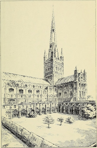 Norwich Cathedral with Cloisters