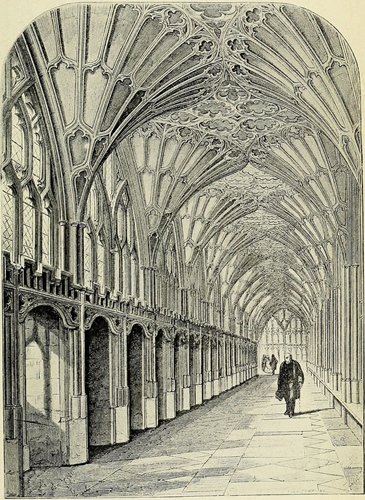The Cloisters, Gloucester, Shewing Carrels