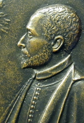 detail of a medal of Blessed Ippolito Galantini; 1620, date unknown; photographed by Sailko; swiped from Wikimedia Commons; click for source image