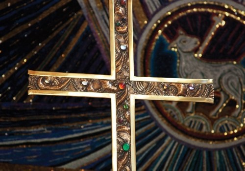 top of a processional cross