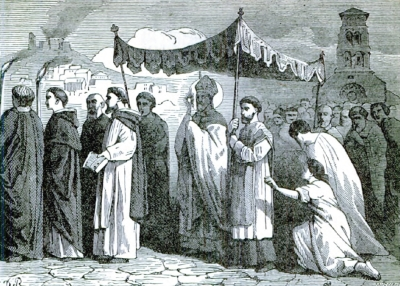 illustration of Saint Mammertus, Archbishop from Pictorial Lives of the Saints