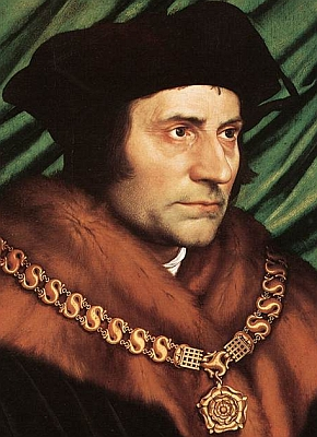 detail from 'Portrait of Sir Thomas More' by Hans Holbein the Younger, 1527, tempera on wood, Frick Collection, New York, New York