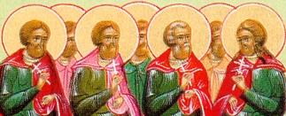 sveti Tirs, Levcij, Kalinik in tovariši - mučenci