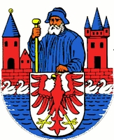 coat of arms for Rhinow, Germany