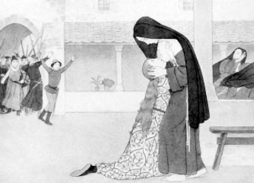 Clara receiving her sister Agnes