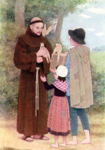 Saint Francis and the turtle doves