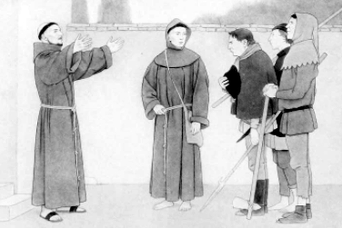 Saint Francis with the three brigands