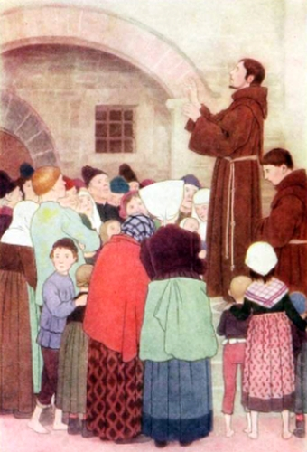 Saint Francis preaching to the people of Assisi