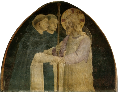 Christ as a Pilgrim with Two Dominicans, by Fra Angelico