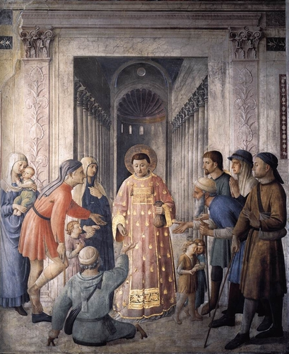 San Lorenzo Distributing Alms, by Fra Angelico