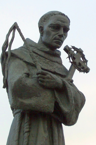 detail of a statue of Blessed Ladislas of Gielniów, date and artist unknown; the statue stands in Gielniów, Poland; photographed on 10 November 2009 by ToSter; swiped from Wikimedia Commons