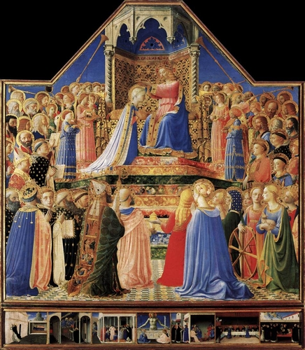 The Coronation of the Virgin, by Fra Angelico