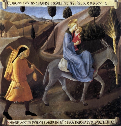The Flight into Egypt by Fra Angelico