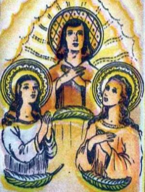 sveti Vincenc, Sabina in Kristeta - mučenci
