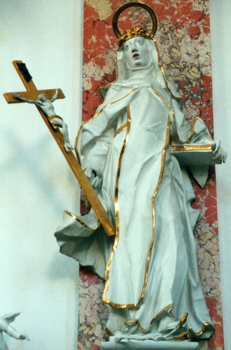 statue of Saint Catherine dei Ricci, 18th century, artist unknown; photographed on 1 July 1996 by Hermetiker; swiped from Wikimedia Commons