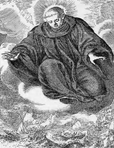 illustration of Saint Constable, Abbot, from the book 'Saints of the Order of Saint Benedict', designed by Father Amandus Liebhaber