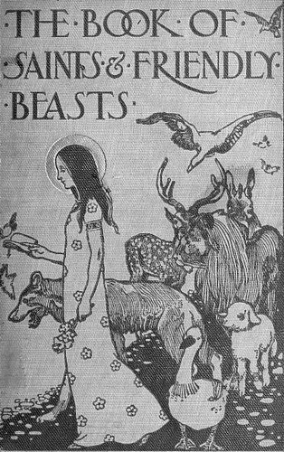 cover of 'The Book of Saints and Friendly Beasts' by Abbie Farwell Brown