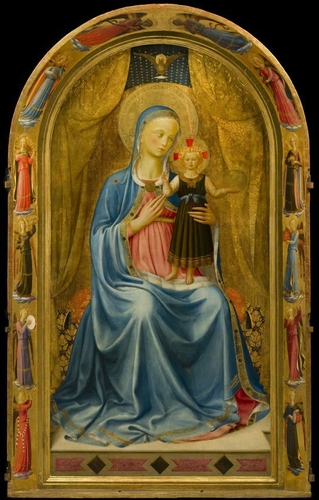 the Madonna dei Linajuoli by Fra Angelico
