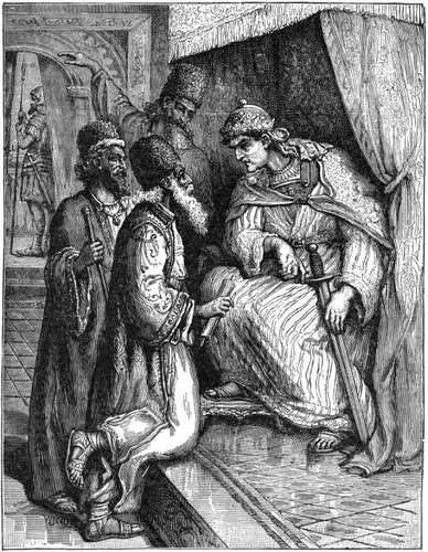 The Wise Men before the King