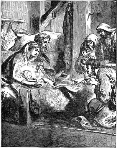 The shepherds worshipping the Infant Jesus