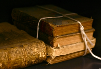 photograph of some old books by Tom Woodward