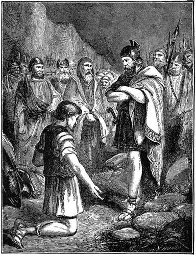 Achan Confessing His Sin
