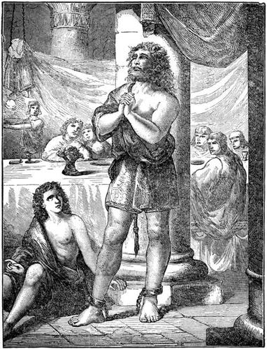 Samson making sport for the Philistines