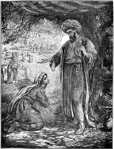 Boaz showing kindness to Ruth